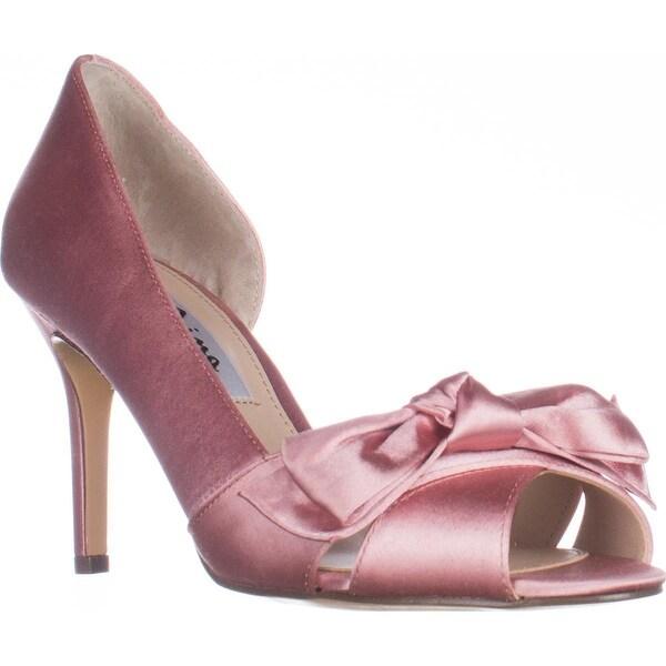 Nina Forbes2 Peep-Toe D'Orsay Dress Pumps, Sugar Glaze - 7 us