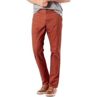 Dockers Mens Alpha Khaki Pants Slim Fit Tapered Leg
