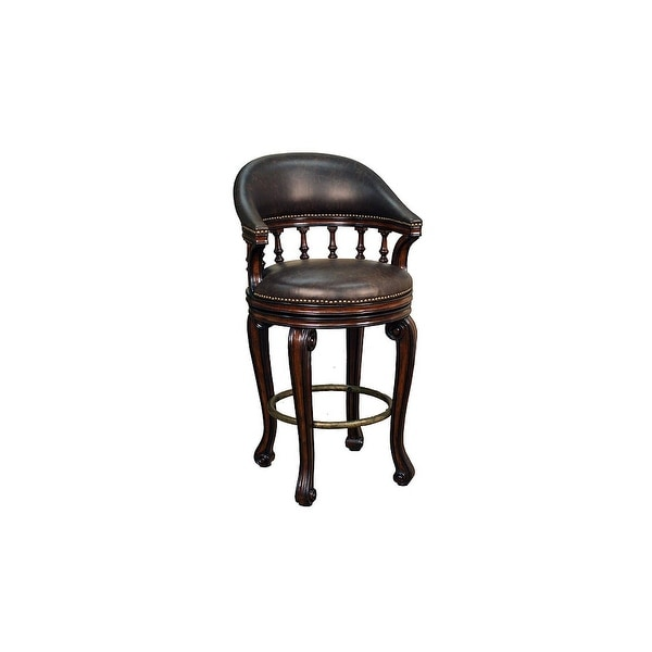 American Heritage Billiards Giovanni Bar Stool 44 5 Tall Wood Frame Canyon Free Shipping Today 13123821