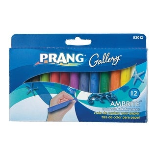 Prang Ambrite Non-Toxic Colored Drawing Chalk, 3 3/16 L X 7/16 W in, Assorted Colors, Pack of 12