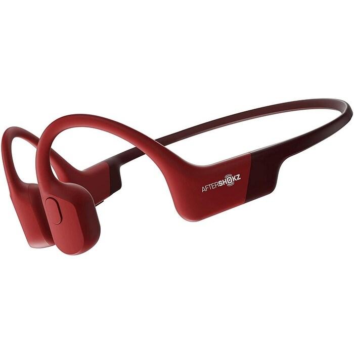 AfterShokz Aeropex Open-Ear Wireless BoneConductionHeadphones,SolarRed
