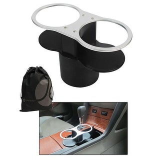 JAVOedge Black Add a Cup Holder / Cup Holder Extension Tool with Bonus Drawstring Storage Bag