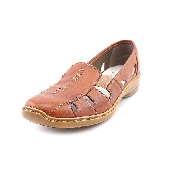 Rieker Doris Women Square Toe Leather Flats