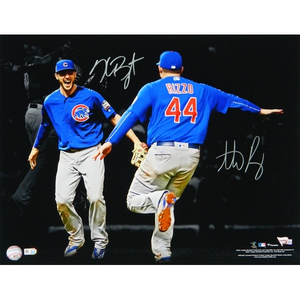 new product e251c af189 Anthony Rizzo Kris Bryant Dual Chicago Cubs 2016 World Series Spotlight  Celebration 16x20 Photo