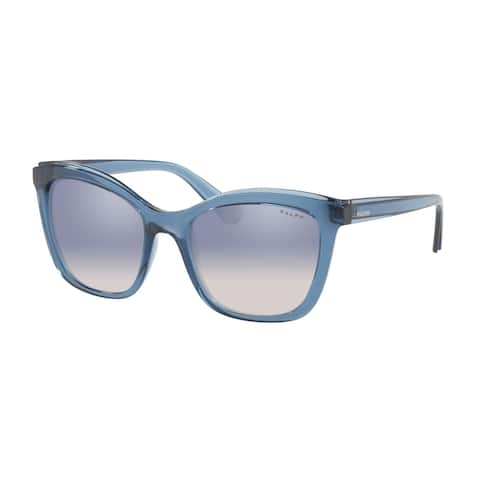 Ralph RA5252 57497B 55 Transparent Blue Woman Square Sunglasses