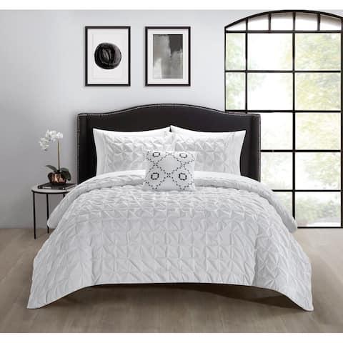 Chic Home Calder 8 Piece Comforter Set Pinch Pleat Box Design - Sheet Set Dec Pillow Shams Included