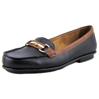 A2 By Aerosoles Nu World Women W Round Toe Synthetic Black Loafer