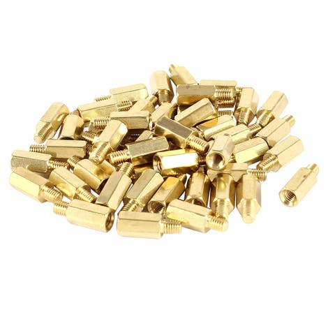 50 Pcs PCB Motherboard Standoff Hex Spacer Screw Nut M3 Male 4mm to Female 9m