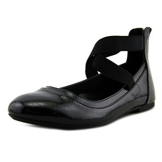 Nina alicea Youth Round Toe Patent Leather Black Ballet Flats