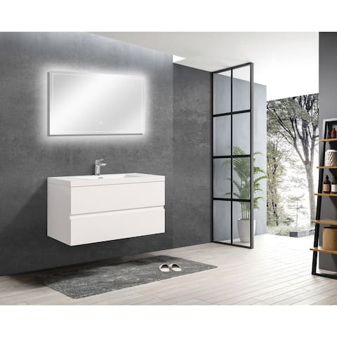 ALma-Angela 42 Wall Mount Vanity With Sink