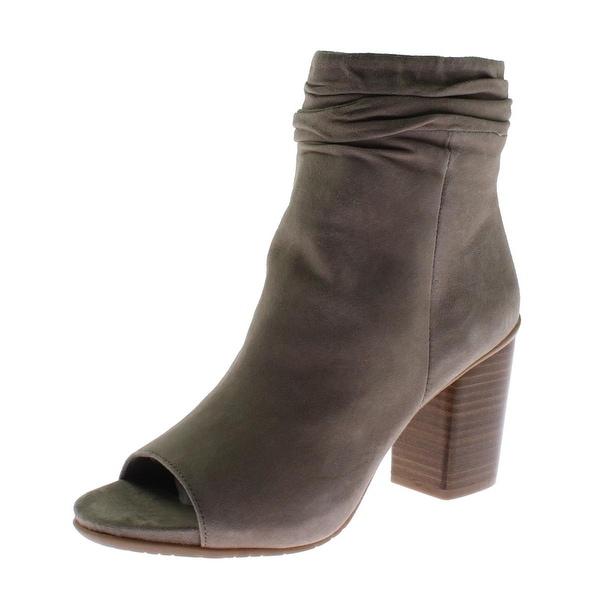 Kenneth Cole Reaction Womens Fridah Cool Booties Suede Peep Toe - 6.5 medium (b,m)