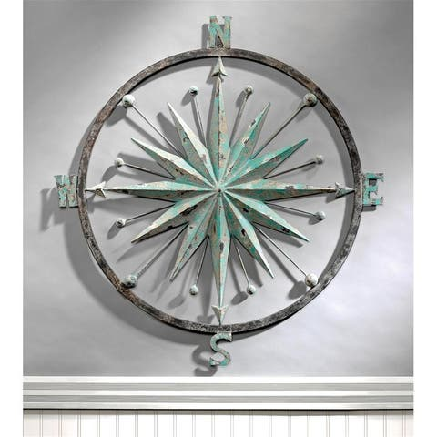 Design Toscano Rose of the Winds Compass Rose Wall Sculpture - 37 x 37