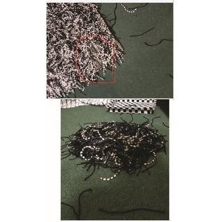 Jovi Safari Shag Black and White Area Rug (5' x 8')