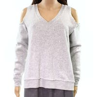 Alternative Gray Women's Size Small S Cold-Shoulder V-Neck Sweater