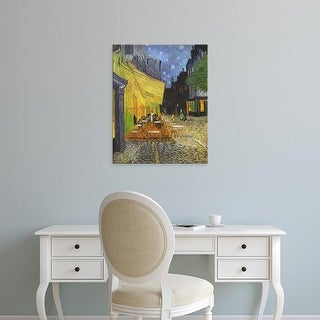 Easy Art Prints Vincent Van Gogh's 'Cafe Terrace at Night (1888)' Premium Canvas Art