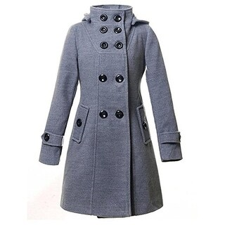 CHAREX Womens Military Coat Textured 2-In-1 - L