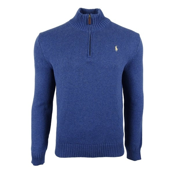 Polo Ralph Lauren Men\u0026#x27;s Half Zip Mock Neck Sweater (M,