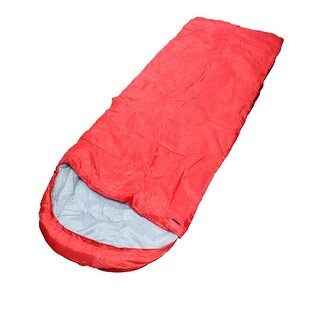 Adult Outdoor Hiking Camping Portable Foldable Zipper Closure Sleeping Bag Red