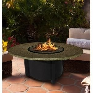 California Outdoor Concepts 5010-BK-PG1-SUN-42 Carmel Chat Height Fire Pit-Bl...