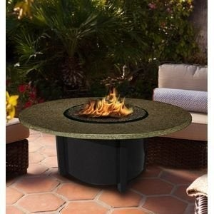 California Outdoor Concepts 5010-BK-PG10-SUN-42 Carmel Chat Height Fire Pit-B...