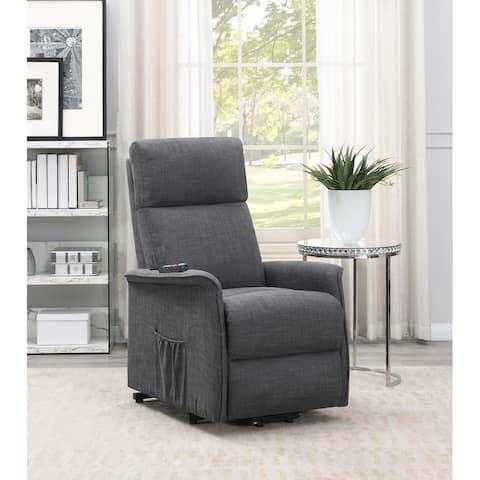 Harvey Upholstered Power Lift Recliner with Massage Function