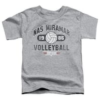 Top Gun-Nas Miramar Volleyball Short Sleeve Toddler Tee, Heathe