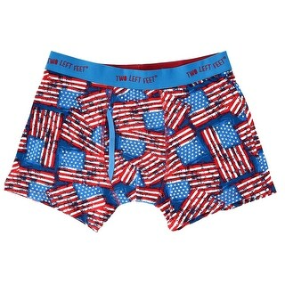 Two Left Feet Men's American Flag USA Print Boxer Briefs