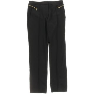 Tahari ASL Womens Petites Jess Dress Pants Seamed Zipper Detail