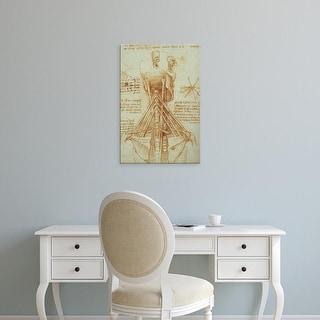 Easy Art Prints Leonardo da Vinci's 'Anatomy of the Neck' Premium Canvas Art