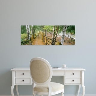 Easy Art Prints Panoramic Image 'Boardwalk, Gooseberry River, Gooseberry Falls Park, Minnesota' Canvas Art