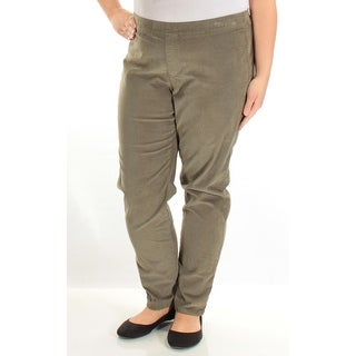 Womens Green Casual Straight leg Pants Size XL