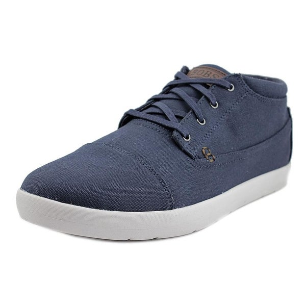 Bobs by Skechers Prevail Mid Men Canvas Blue Fashion Sneakers