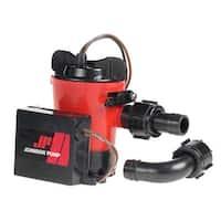 "Johnson Pump 500 GPH Auto Bilge Pump 3/4"" Hose 12V Dura Port"