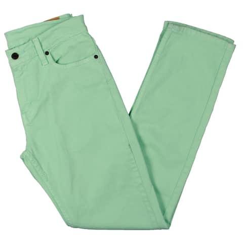 Levi Strauss & Co. Mens 511 Slim Leg Jeans Colored Denim - Honeydew