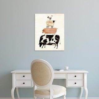 Easy Art Prints Victoria Borges's 'Barnyard Buds III' Premium Canvas Art