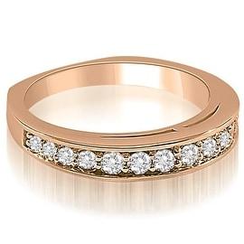 0.50 cttw. 14K Rose Gold Round Cut Diamond Wedding Ring