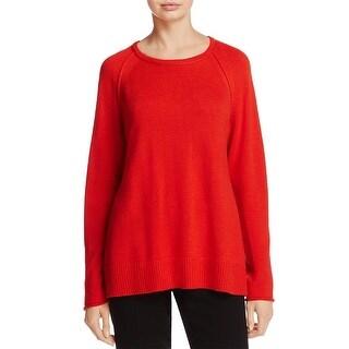 Eileen Fisher Womens Pullover Sweater Merino Wool Long Sleeves
