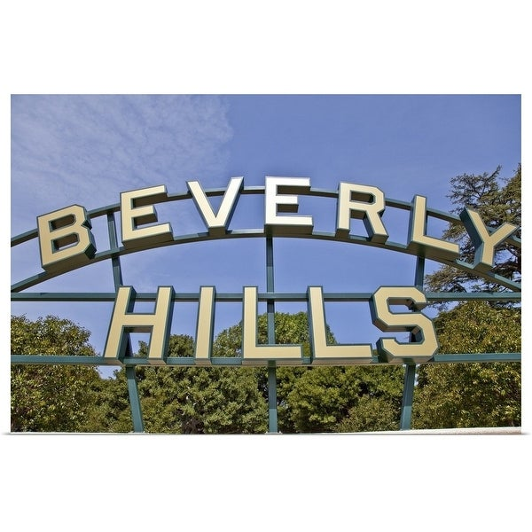 """""""Close-up of the Beverly Hills sign, California"""" Poster Print"""