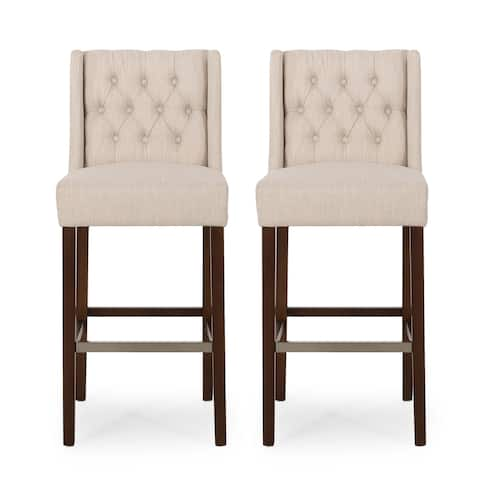 Bayliss Contemporary Wingback Fabric Barstools (Set of 2) by Christopher Knight Home