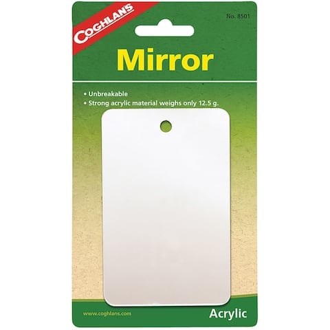 Coghlan's Featherweight Mirror, Unbreakable Acrylic Material - 2.75 in.x4.25 in.