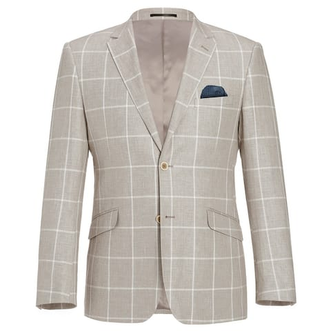 Men's Summer Linen Cotton Blazer Soft Classic Fit Sport Coat