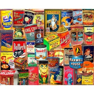 "Jigsaw Puzzle 1000 Pieces 24""X30""-Vintage Tins"