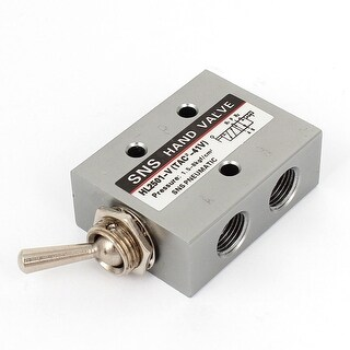 Silver Tone Air Pneumatic Toggle Switch Valve HL2501-V