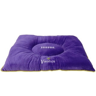 "Pets First NFL Minnesota Vikings ""Soft & Cozy"" Plush Pet Pillow Bed"