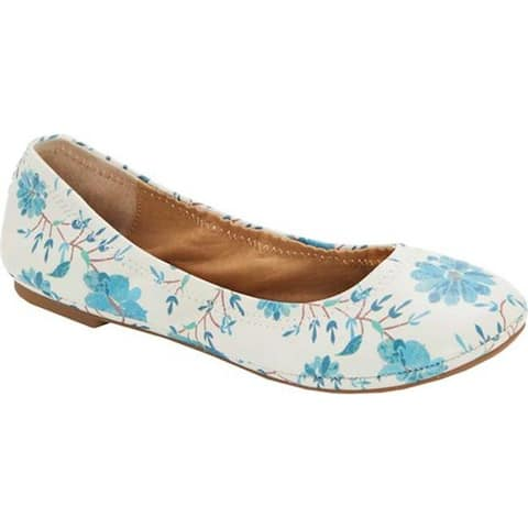 Lucky Brand Women's Emmie Flat Birch Leather
