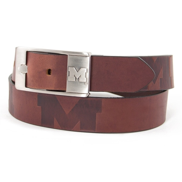 University of Michigan Brandish Leather Belt