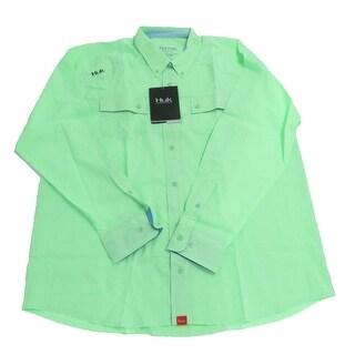 Huk Men's Next Level Key Lime Small Button Up Long Sleeve Shirt