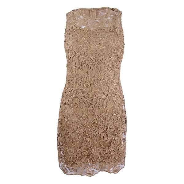 Calvin Klein Women's Petite Lace Sheath Dress