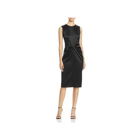 Donna Karan Womens Cocktail Dress Sheer Twist Front