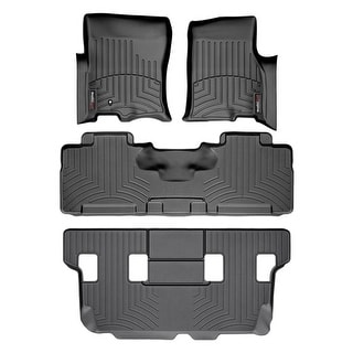 WeatherTech 44107-1-2-4 Black FloorLiner - All Rows: Ford Expedition 2007 - 2010